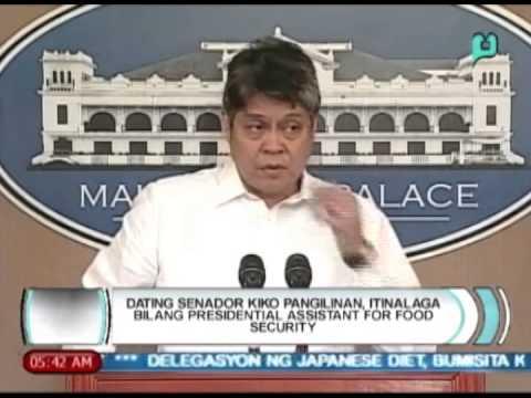 Dating Senador Kiko Pangilinan itinalaga bilang Presidential Assistant for Food Security [05|07|14]