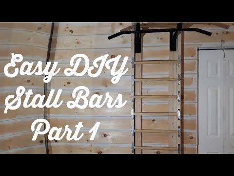 easy diy stall bars as an addition to a pull up bar setup