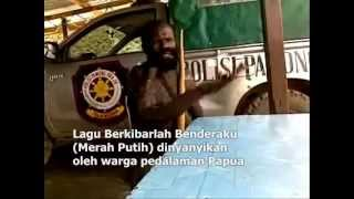 West Papuan People Sing Indonesian National Anthem