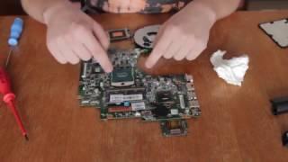 Čištění a přepastování notebooku HP