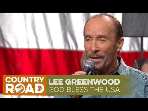 Lee Greenwood sings