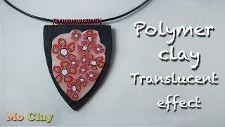 Polymer clay tutorial - How to make a pendant with translucent effects