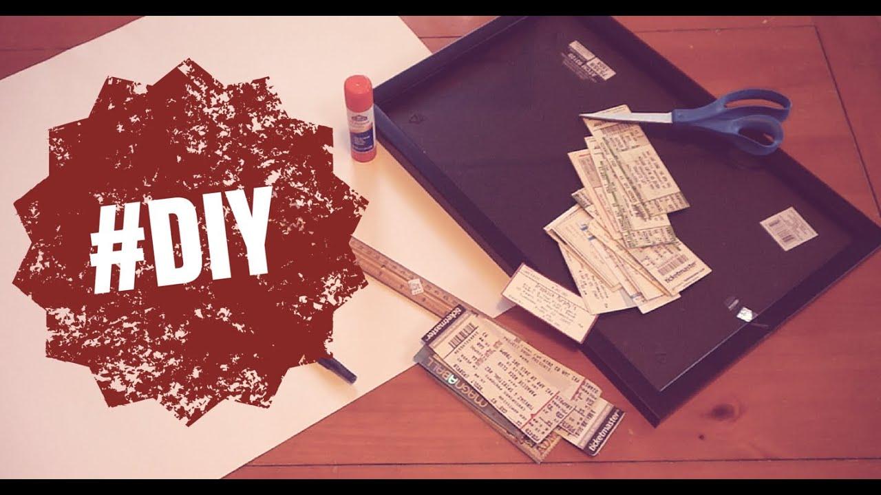 Easy Diy Ticket Stub Collage You