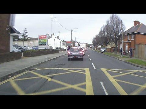 Dash Cam Ireland  - Newtownpark Avenue in Blackrock, Dublin