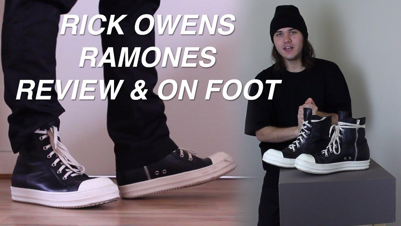 Rick Owens Ramones Review \u0026 On Foot