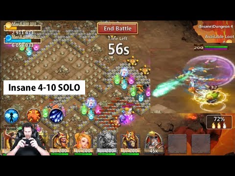 Skeletica SOLO Challenge CLEARING INSANE 4-10 Castle Clash