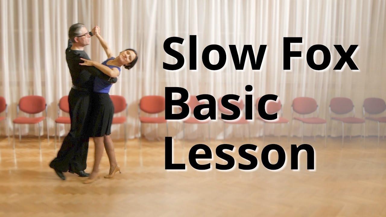 Slow Foxtrot Basic Lesson Ballroom Dance Youtube