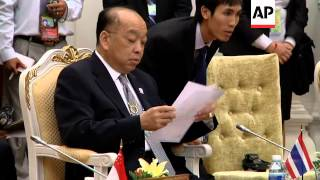 Ministers arriving for regional meet, Cambodian FM comment, security