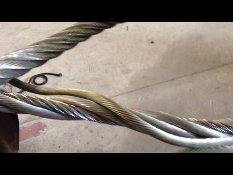 Wire rope doesn't close