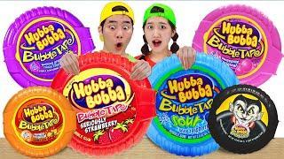 mukbang Bubble Gum Hubba Bubba Challenge 풍선껌 후바부바 챌린지 먹방 | 말이야와아이들