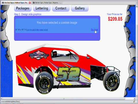 Design your own paint scheme race car n wall decal for Dirt track race car paint schemes