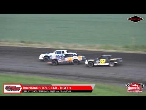 IronMan Stock Car Heats - Park Jefferson Speedway - 8/25/18