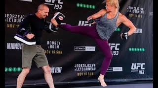 UFC 193: Holly Holm Open Workout Session (Complete)
