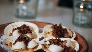 Baked Scallops (w/spanish Ham) Recipe || Kin Eats