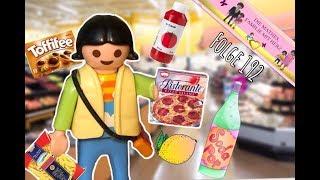 SAHRA geht ALLEINE EINKAUFEN😊 - Im SUPERMARKT von Playmo City - Playmobilgeschichte deutsch