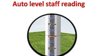 Auto level staff reading