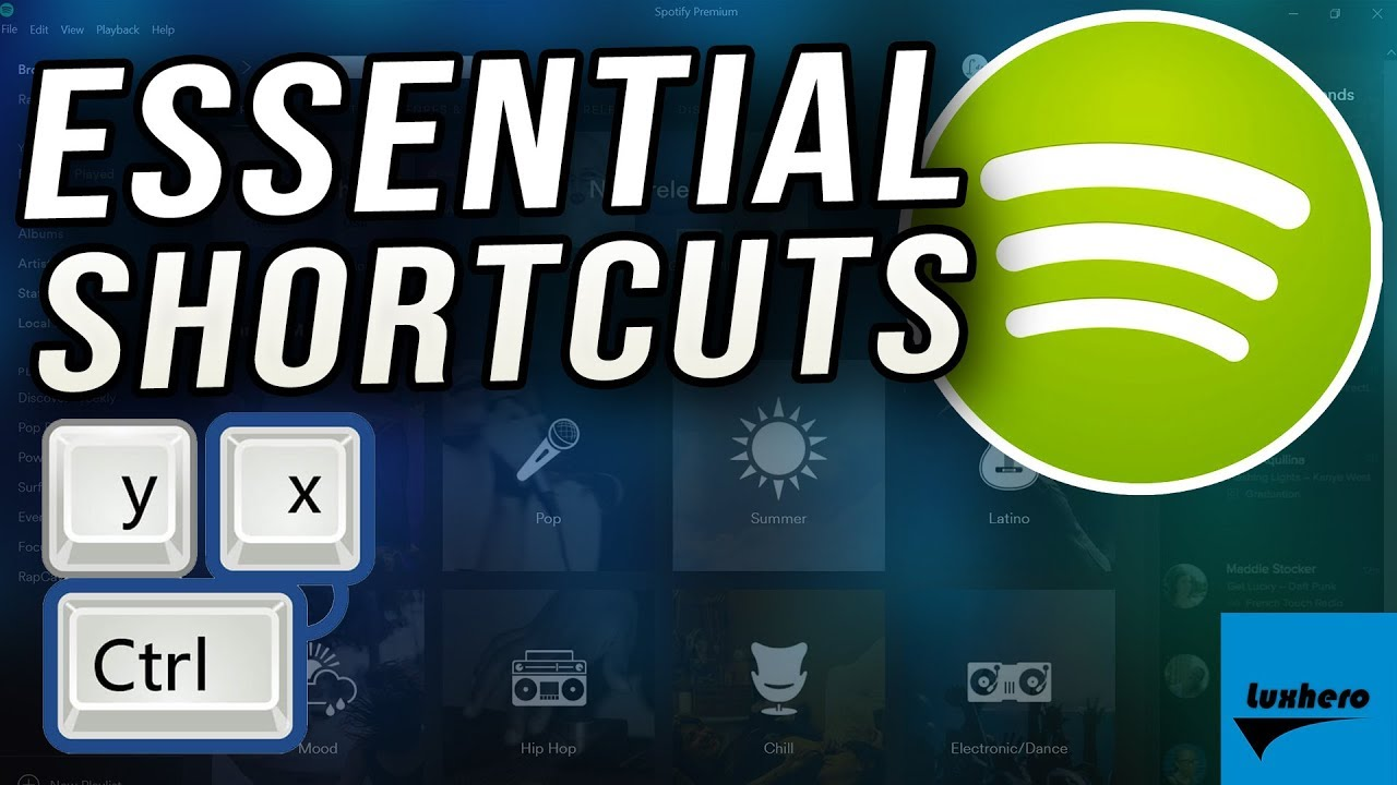 Spotify - Most Essential Shortcuts for Windows 10