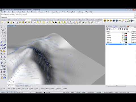 04_extra - Rhino Topography from contours
