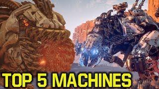 Horizon Zero Dawn machines - TOP 5 MACHINES (Horizon Zero Dawn tips and tricks)