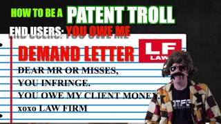Patent Troll: End Users, YOU OWE ME SERIOUS MONEY!!