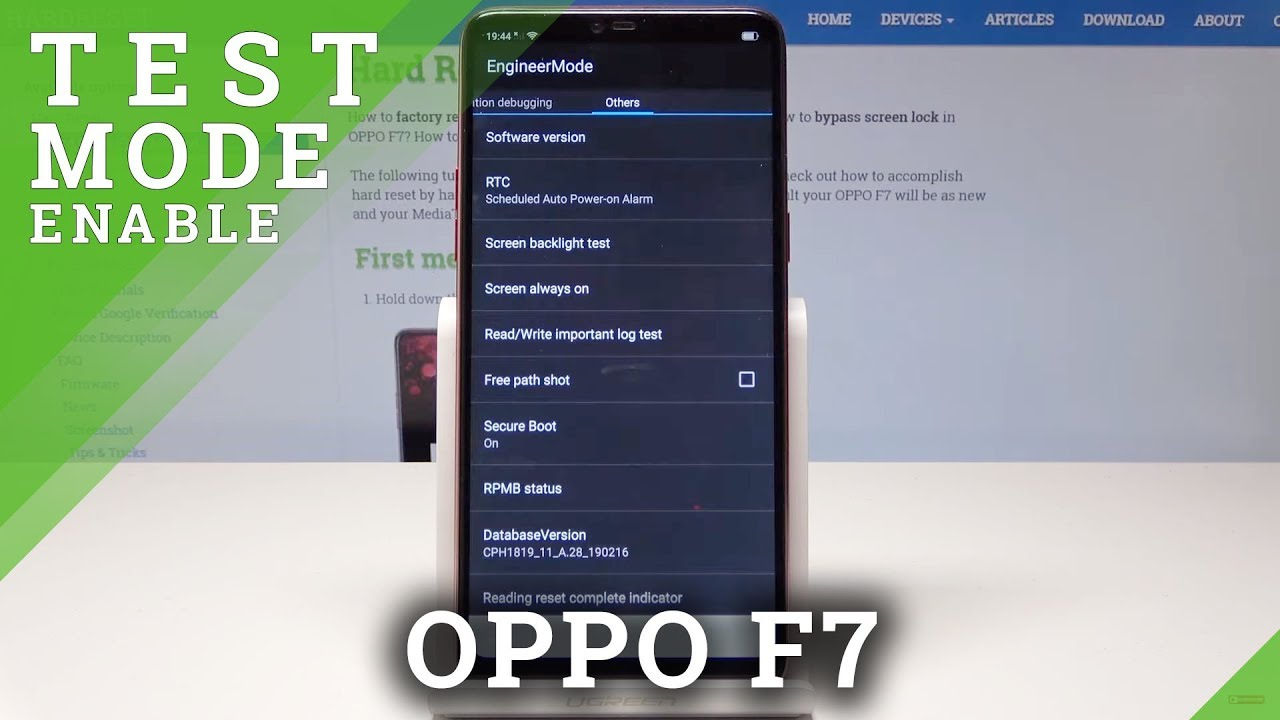 How to Enter Engineer Mode in OPPO F7 - Hardware Test Mode
