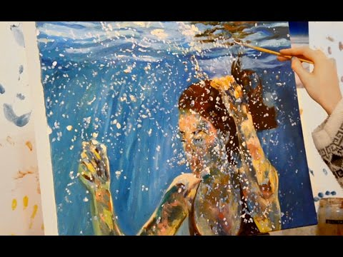 Oil Painting Time Lapse - Underwater Portrait
