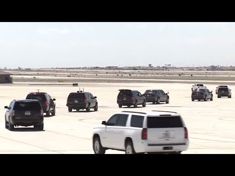 AMAZING: President Donald Trump arrives in Air Force One at Yuma, Arizona for Massive Phoenix Rally