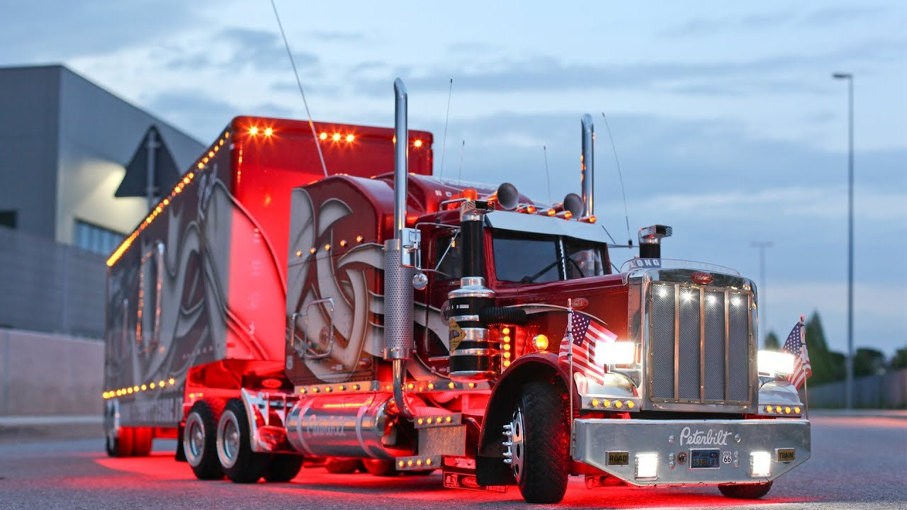 Peterbilt 359 Rc 1 4 Truck Road Night Mp4 Youtube