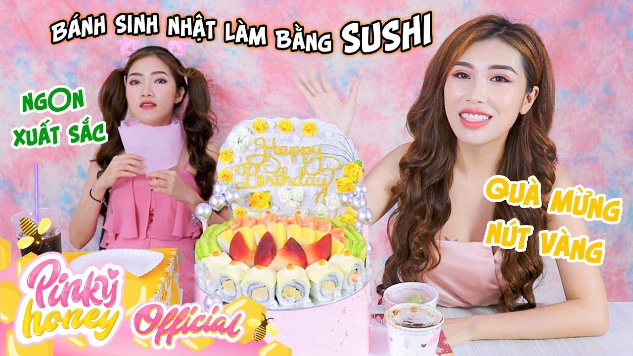 BÁNH SINH NHẬT LÀM BẰNG SUSHI, Cover Quỳnh Trần & Bé Sa    PINKY HONEY
