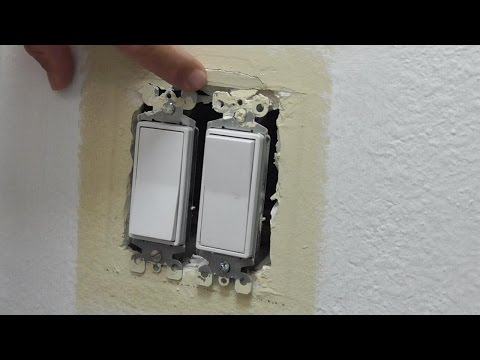 Drywall Wallboard Repair around Switch or Outlet Box