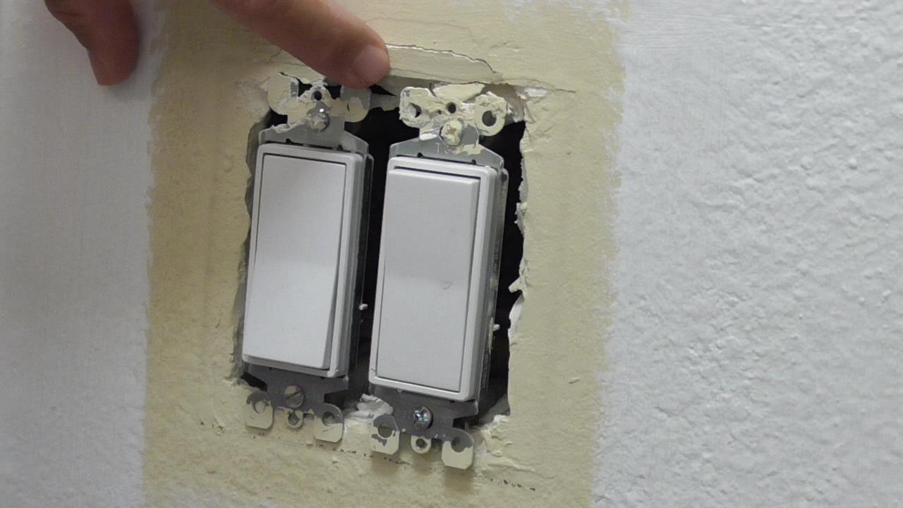 Drywall Wallboard Repair Around Switch Or Outlet Box Youtube