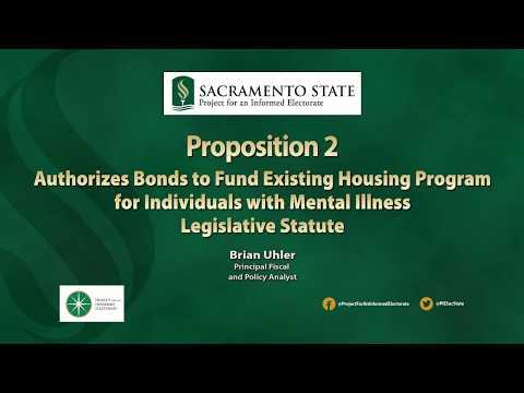 California 2018, Prop. 2, Mental Health Housing Bond, Non-Partisan Explainer