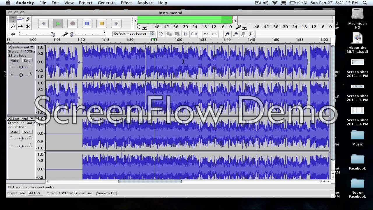 how to create an instrumental on audacity