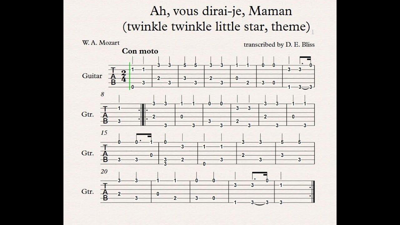 Mozart Ah, vous dirai-je, Maman (twinkle twinkle little star) theme ...