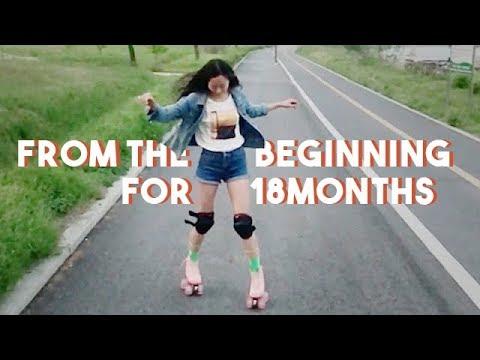 Practice roller skates for 18 months 롤러스케이트 연습