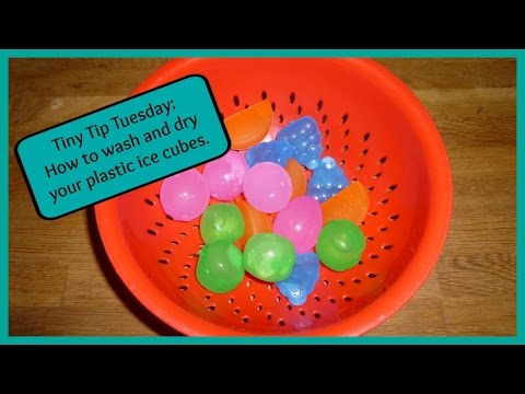 Tiny Tip Tuesday: washing and drying plastic ice cubes