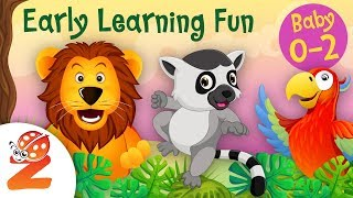 Early Learning Fun #8 | Jungle Animals 🐯🐵 Counting & Colors | Educational