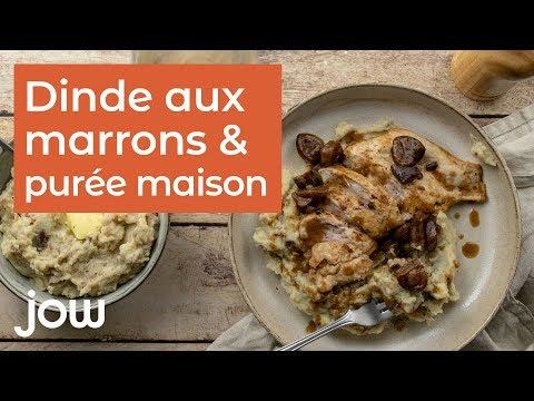 recette-de-la-dinde-aux-marrons-purée-maison