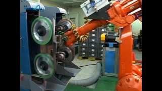 다이캐시팅 관련 Robot 연마