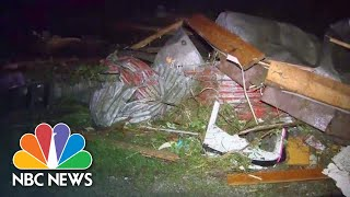 Twisted Wreckage, Flattened Buildings Lie In Wake Of Deadly Missouri Storms | NBC News