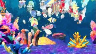 「お絵かき水族館 with NTT西日本」 http://oekaki-suizokukan.jp/ ウルトラテクノロジスト集団チームラボが制作した、子どもたちが描いた魚がその場で泳...