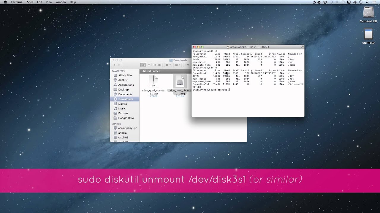 Mac Mini Sd Karte.Udoo Creating A Bootable Micro Sd Card With Mac Os X From Image