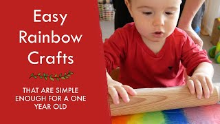 TODDLER RAINBOW CRAFTS | Easy activities that a one year old can do
