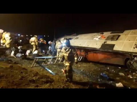 Страшная авария автобуса Москва-Тбилиси