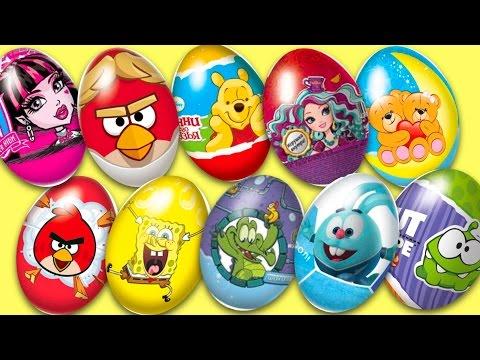 Открываем 75 яиц-сюрпризов ищем игрушки