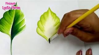 Pintura en tela para principiantes hojas para flores