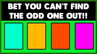 Can you find the odd one out? - IQ test - Eye test
