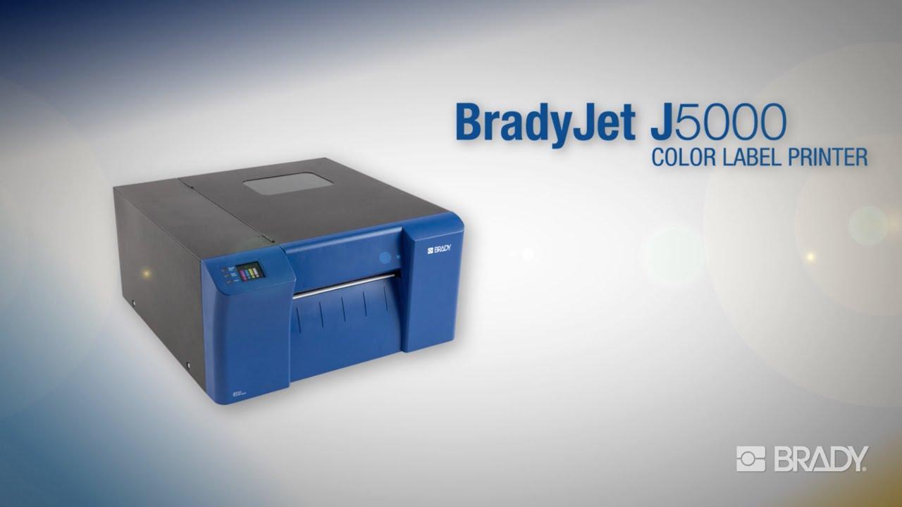 Color printer label - Bradyjet J5000 Industrial Inkjet Color Label Printer Overview