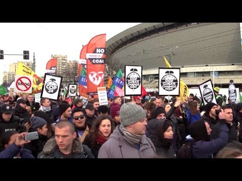 Thousands Protest at U.N. Climate Summit in Coal-Heavy Poland, Facing Riot Police & Intimidation
