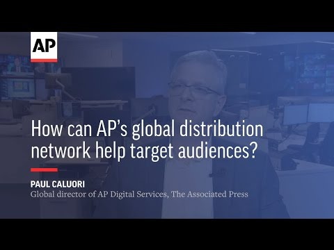 How can AP's global distribution network help target audiences?